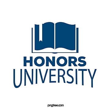 the honorary university symbol of dark blue creative books Template