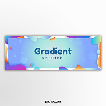 wave color gradient banner Template