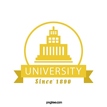 yellow creative simple university educational symbol Template