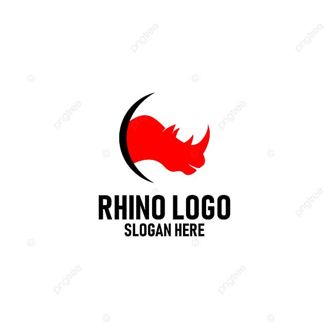 Creative Rhino Logo Design Vector Template for Free Download