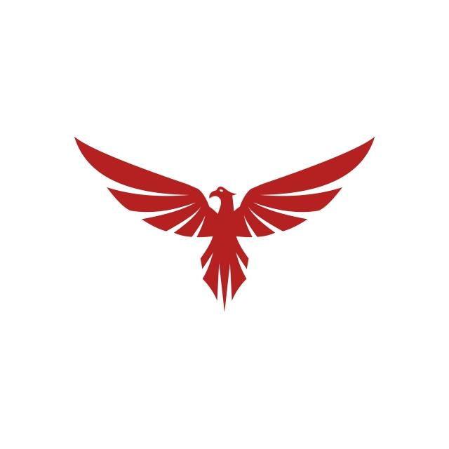 Falcon Eagle Bird Logo Template Vector Icon, Falcon