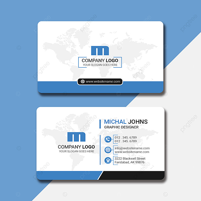 professional name card design in 2 colors template for