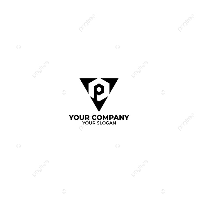 Vp Triangle Logo Design Vector Template for Free Download on