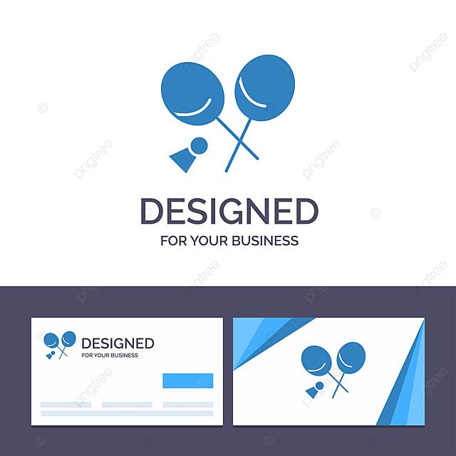 Kreative Visitenkarte Und Logo Vorlage Badminton Schläger