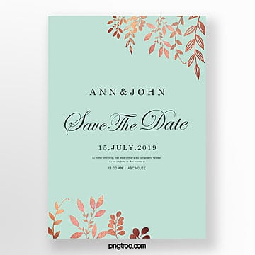 brief wedding invitation letter of fresh luxury golden mint blue wedding menu Template