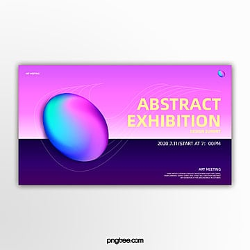 elliptical space sensed geometric holographic gradual activity exhibition banner Template