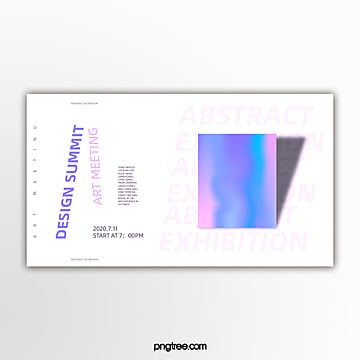inclined geometric holographic gradient activity exhibition banner Template