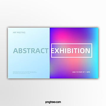 left and right polychromatic geometric holographic gradual activity exhibition banner Template