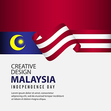 malaysia independence day celebration creative design illustration vector template Template