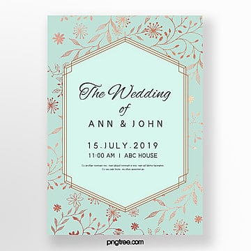 mint blue and gold simple wedding invitation letter wedding menu wedding menu Template