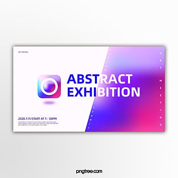 rotary hollow geometric holographic gradual activity exhibition banner Template