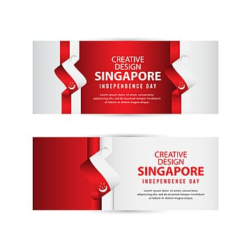 singapore independent day poster creative design illustration vector template Template