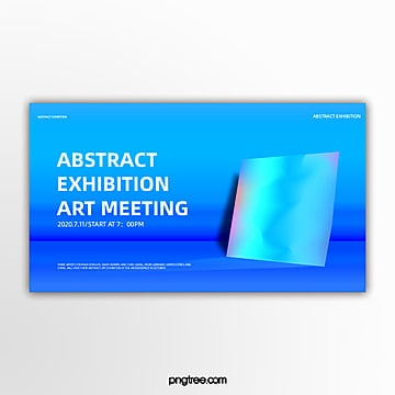 space blue system geometric holographic gradual activity exhibition banner Template