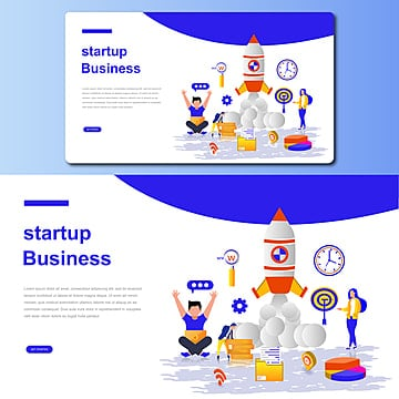 starting business concept vector illustration for landing page Template