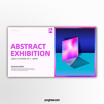 trend multicolor geometric holographic gradual activity exhibition banner Template
