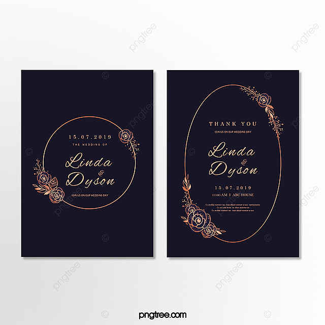 Invitation Letter For High End Golden Lace Wedding In Dark