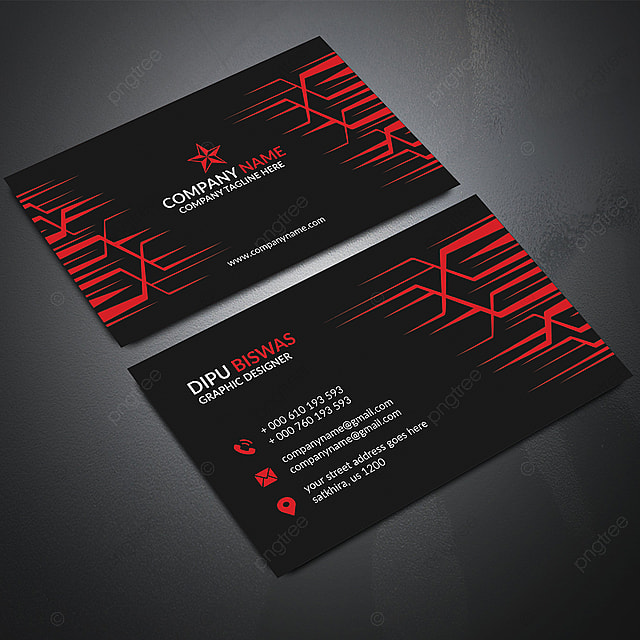 Red Stylish Business Card Template for Free Download on Pngtree