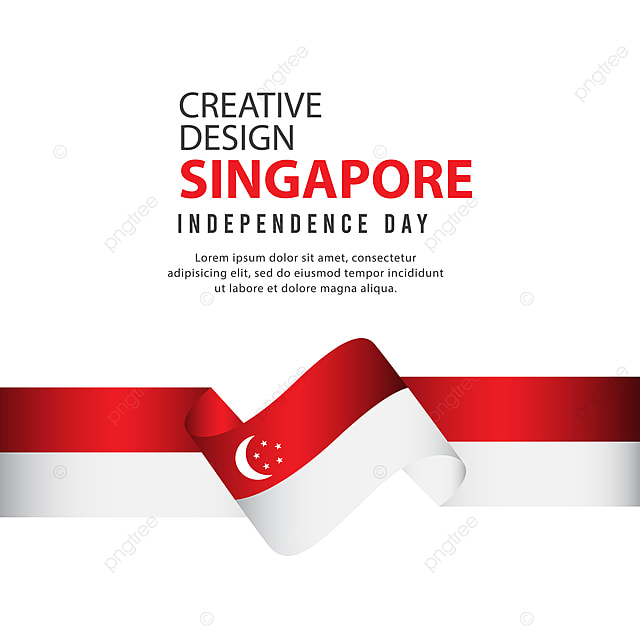 Singapore Independent Day Poster Creative Design