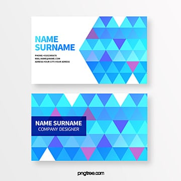 color geometry trend seamless triangle creative business card Template