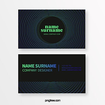 color gradient trend geometric point line creative business card Template
