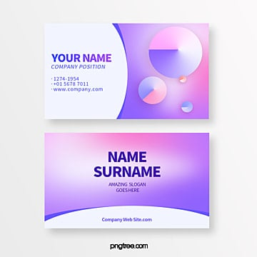 creative business card of colorful circular gradual deformation geometry trend Template