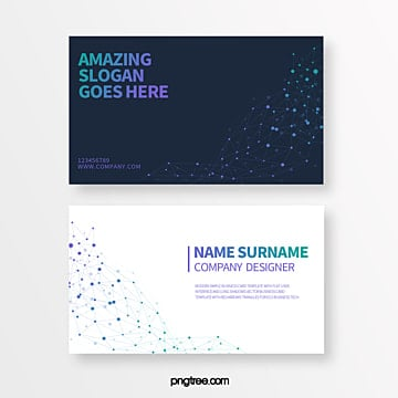 creative business card of geometric trend line of color gradient technological particles Template