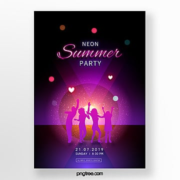 fashion minimalist neon party posters Template