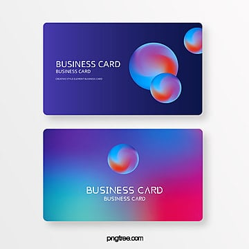 gradual multicolor stereoscopic sphere creative style element business card Template