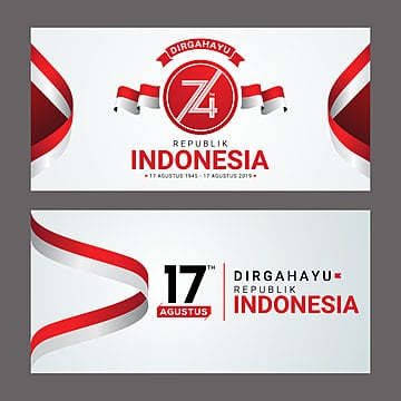 happy indonesia independence day greeting card Template