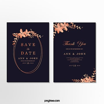 high end gold lace dark blue wedding invitation letter wedding menu Template