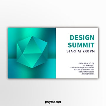 holographic color perspective geometric gradient simplified exhibition flag Template