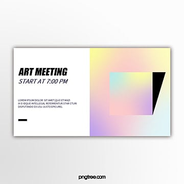 holographic color perspective geometric gradient square abstract exhibition flag Template