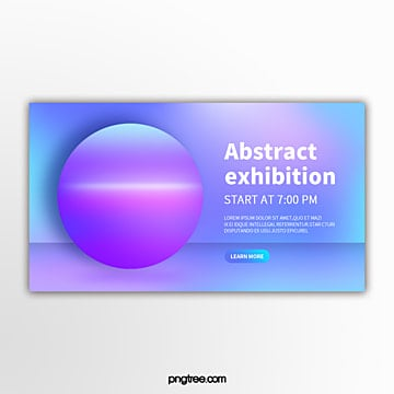 holographic geometric gradient spherical simple exhibition flag Template