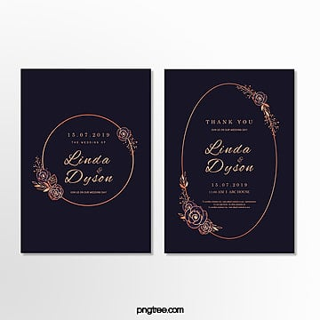 invitation letter for high end golden lace wedding in dark color Template