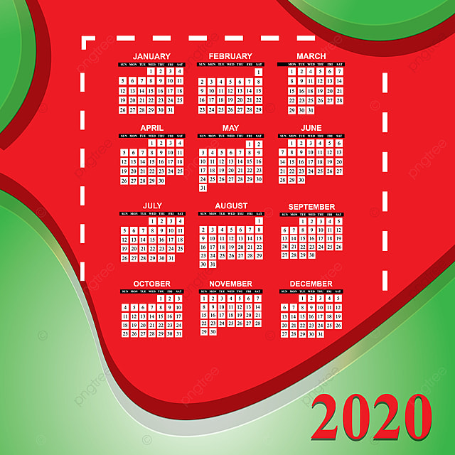 Calendrier 2020 Avec Photos.Le Calendrier 2020 Avec Son Arriere Plan En Couleurs A L Air