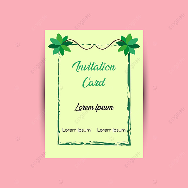 Creative Invitation Card Design Template Template For Free