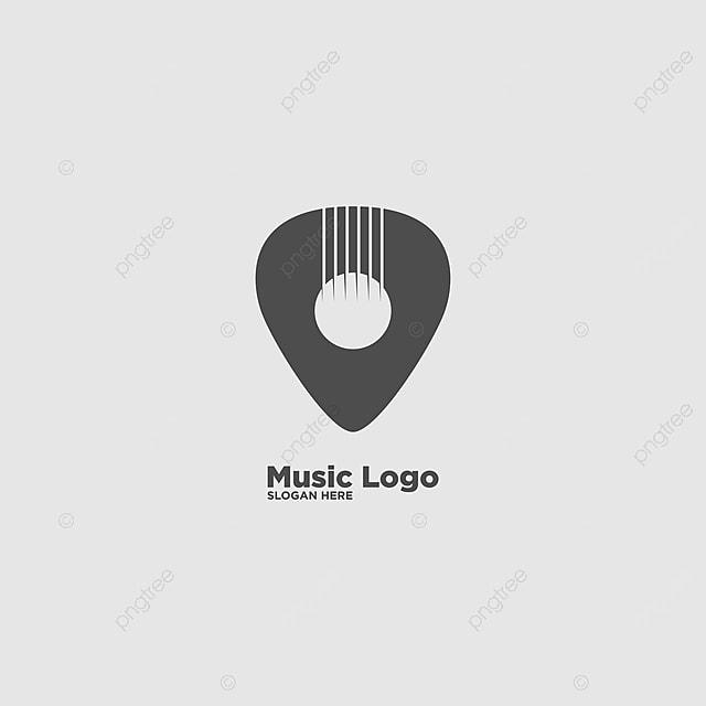 Einfaches Logo Für Musik Und Gitarre Vorlage Vektor