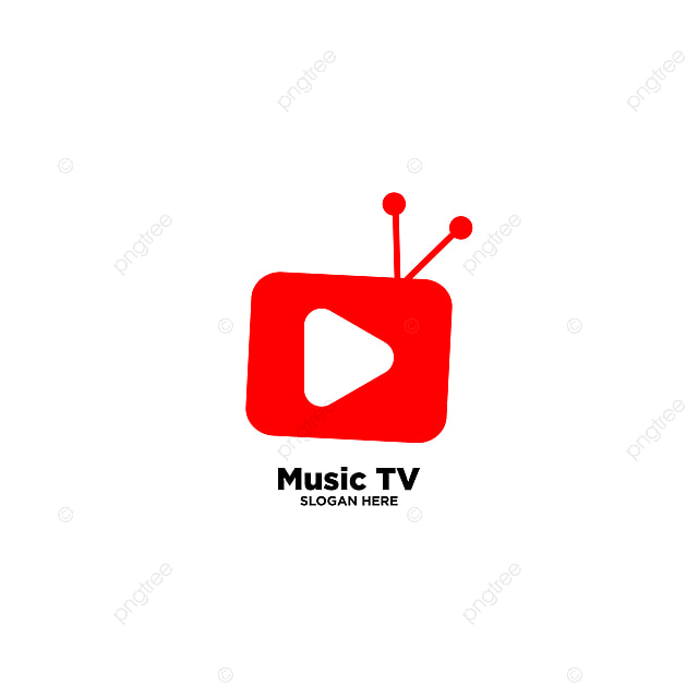 Music Tv Simple Logo Template Vector Illustration Icon