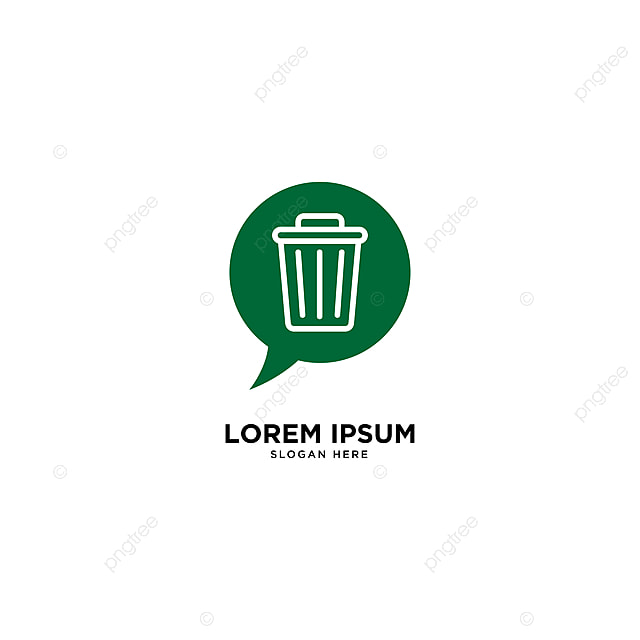 recycle trash talk logo template vector illustration icon