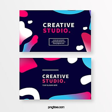 creative business card design of bubble shape geometry Template