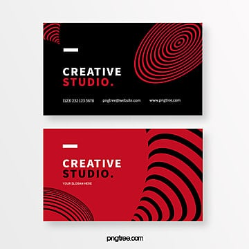 red and black geometric creative style business card Template