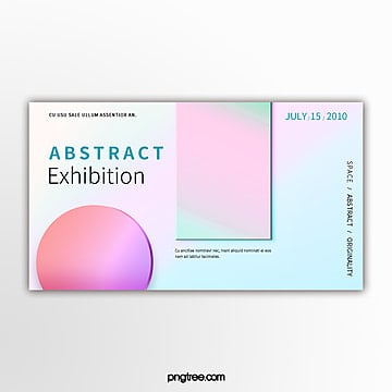 simple holographic gradual geometry exhibition banner Template