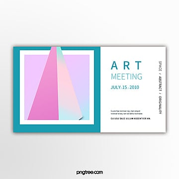 simple color gradient solid geometry exhibition banner Template