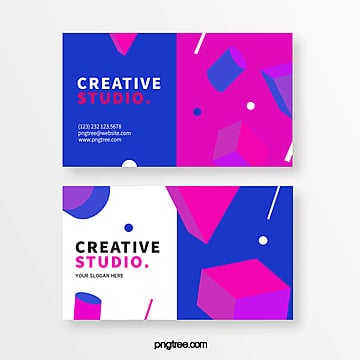 bright three dimensional geometry creative style business card Template