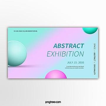 colour gradient geometry sphere activity exhibition banner Template