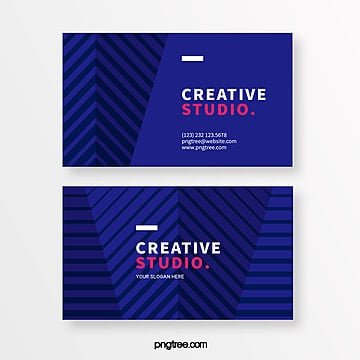 dark blue bar creative style business card Template