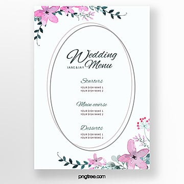 elegant and warm lace wedding menu template Template
