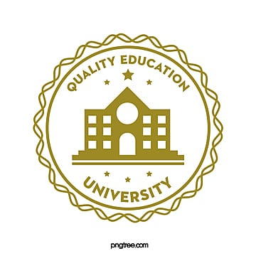 european creative round university educational logo Template