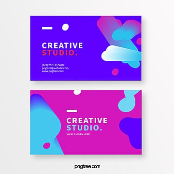 fashion fluid block creative style business card Template