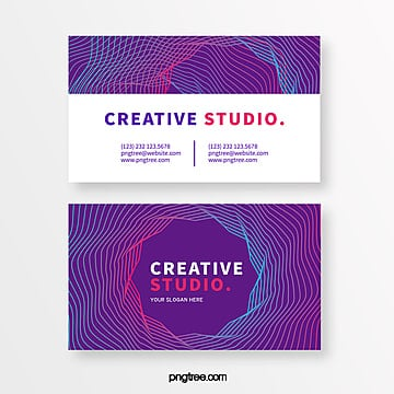 fashion line creative style business card Template